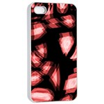 Red light Apple iPhone 4/4s Seamless Case (White) Front