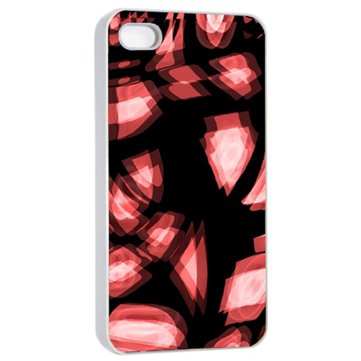 Red light Apple iPhone 4/4s Seamless Case (White)