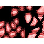 Red light Ribbon 3D Greeting Card (7x5) Front