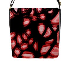 Red light Flap Messenger Bag (L)