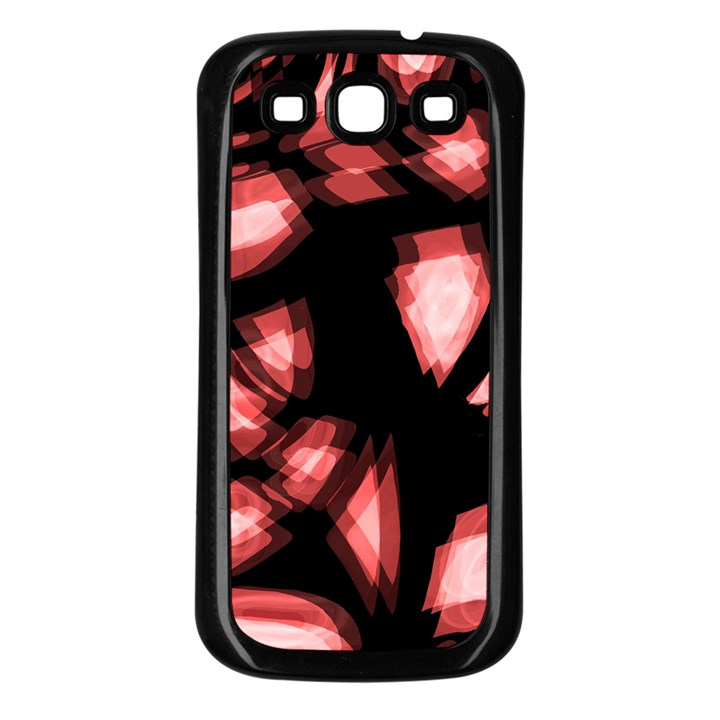 Red light Samsung Galaxy S3 Back Case (Black)