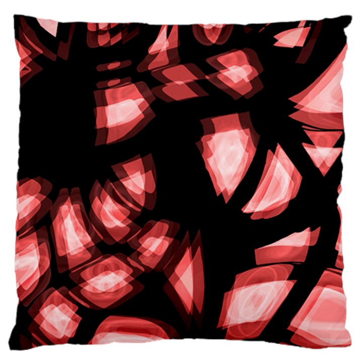 Red light Large Flano Cushion Case (One Side)