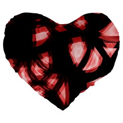 Red light Large 19  Premium Flano Heart Shape Cushions