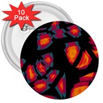 Hot, hot, hot 3  Buttons (10 pack)  Front