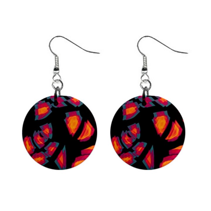 Hot, hot, hot Mini Button Earrings