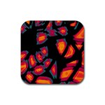 Hot, hot, hot Rubber Square Coaster (4 pack)  Front