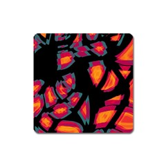 Hot, Hot, Hot Square Magnet by Valentinaart