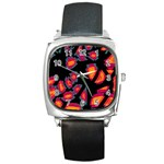 Hot, hot, hot Square Metal Watch Front