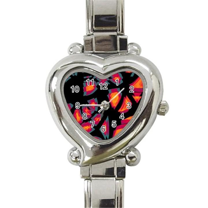 Hot, hot, hot Heart Italian Charm Watch