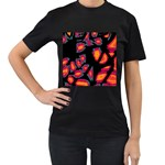Hot, hot, hot Women s T-Shirt (Black) (Two Sided) Front