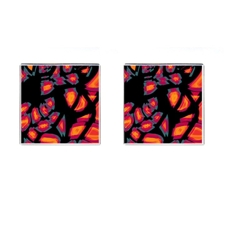 Hot, hot, hot Cufflinks (Square)