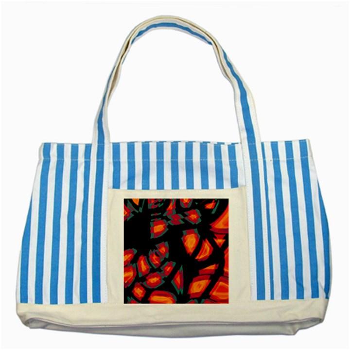 Hot, hot, hot Striped Blue Tote Bag