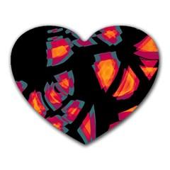 Hot, Hot, Hot Heart Mousepads by Valentinaart