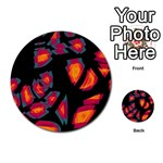 Hot, hot, hot Multi-purpose Cards (Round)  Back 49