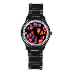 Hot, Hot, Hot Stainless Steel Round Watch