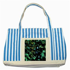 Colorful Magic Striped Blue Tote Bag by Valentinaart