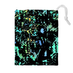 Colorful Magic Drawstring Pouches (extra Large) by Valentinaart