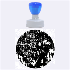 Think Blue Rubber Round Stamps (large) by Valentinaart