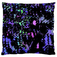 Think Blue Large Flano Cushion Case (two Sides) by Valentinaart