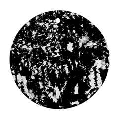 Black And White Miracle Ornament (round)  by Valentinaart