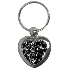 Black And White Miracle Key Chains (heart)  by Valentinaart
