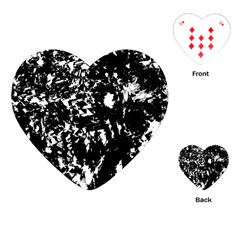 Black And White Miracle Playing Cards (heart)  by Valentinaart