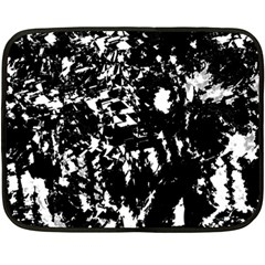 Black And White Miracle Fleece Blanket (mini) by Valentinaart