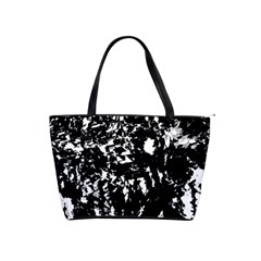 Black And White Miracle Shoulder Handbags by Valentinaart