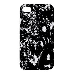 Black And White Miracle Apple Iphone 4/4s Premium Hardshell Case by Valentinaart