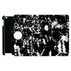 Black And White Miracle Apple Ipad 2 Flip 360 Case by Valentinaart