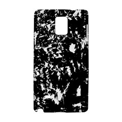 Black And White Miracle Samsung Galaxy Note 4 Hardshell Case by Valentinaart