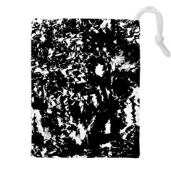 Black And White Miracle Drawstring Pouches (xxl) by Valentinaart
