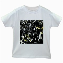 Little Bit Of Yellow Kids White T Shirts by Valentinaart
