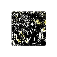 Little Bit Of Yellow Square Magnet by Valentinaart