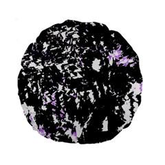 Little Bit Of Purple Standard 15  Premium Round Cushions by Valentinaart