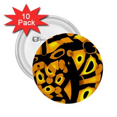 Yellow Design 2 25  Buttons (10 Pack)  by Valentinaart