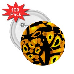 Yellow Design 2 25  Buttons (100 Pack)  by Valentinaart