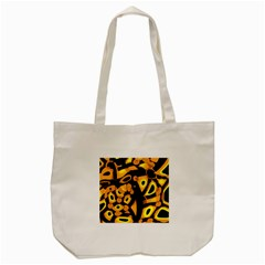 Yellow Design Tote Bag (cream) by Valentinaart