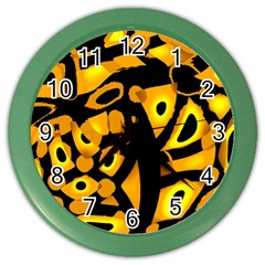 Yellow Design Color Wall Clocks by Valentinaart