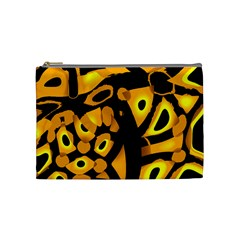 Yellow Design Cosmetic Bag (medium)  by Valentinaart