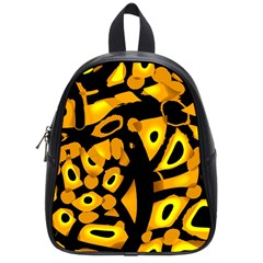 Yellow Design School Bags (small)  by Valentinaart