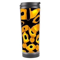 Yellow Design Travel Tumbler by Valentinaart