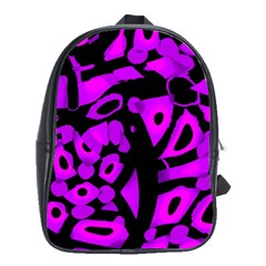 Purple Design School Bags (xl)  by Valentinaart