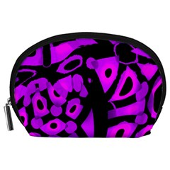 Purple Design Accessory Pouches (large)  by Valentinaart