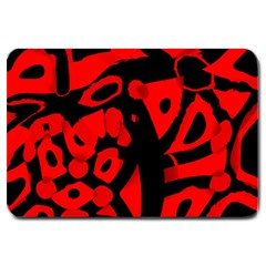Red Design Large Doormat  by Valentinaart