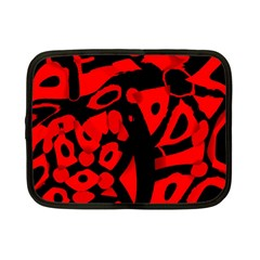 Red Design Netbook Case (small)  by Valentinaart