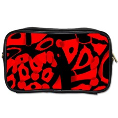 Red Design Toiletries Bags 2 Side by Valentinaart