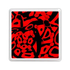 Red Design Memory Card Reader (square)  by Valentinaart