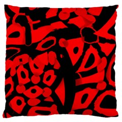 Red Design Standard Flano Cushion Case (one Side) by Valentinaart