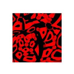 Red Design Satin Bandana Scarf by Valentinaart